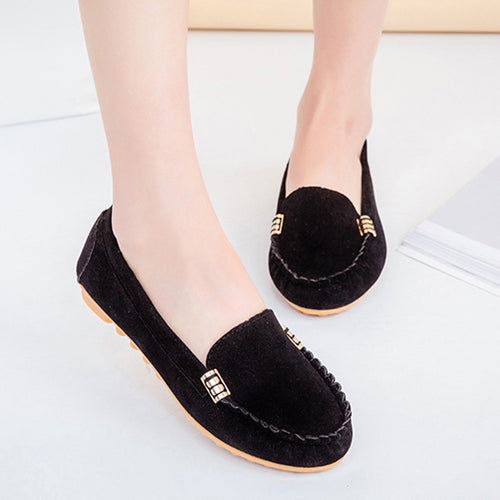 Women's Flats Ladies Comfy Ballet Shoes Soft Slip-On Casual Boat Shoes