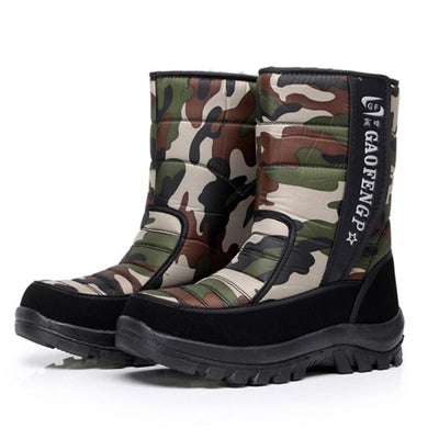 Men boots 2018 new arrivals thicken plush winter shoes high quality waterproof snow boots camouflage men boots for -40 degrees - Baby clothing, toys, shoes, mum & dad products