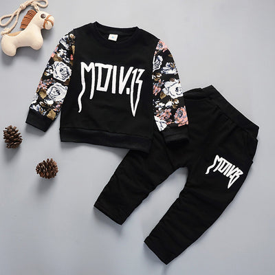 Fashion Winter Kids Clothes Floral Print Boy's clothing Warm long-sleee Children's Clothing set Boy Winter Clothes For kids - Baby clothing, toys, shoes, mum & dad products
