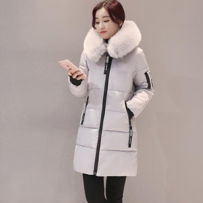 Orwindny 2018 Winter Coat Women Long Down Cotton Jacket Thickening Warm Parkas Outwear Female Winter Clothing Hooded Big Fur - Baby clothing, toys, shoes, mum & dad products