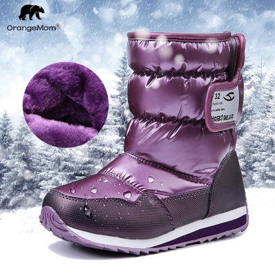 -30 degree Russia winter warm baby shoes , fashion Waterproof children's shoes ,  girls boys boots perfect for kids accessories - Baby clothing, toys, shoes, mum & dad products