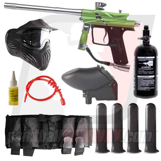 Azodin Blitz 3 Paintball Gun Advanced Package - Green/Silver