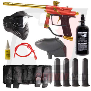 Azodin Blitz 3 Paintball Gun Advanced Package - Orange/Yellow