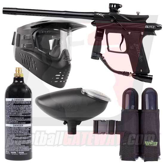 Azodin Blitz 3 Paintball Gun Starter Package - Black/Black