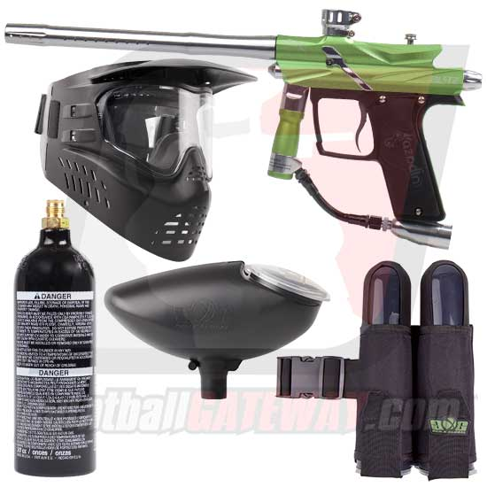 Azodin Blitz 3 Paintball Gun Starter Package - Green/Silver