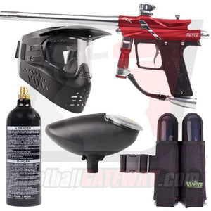 Azodin Blitz 3 Paintball Gun Starter Package - Red/Silver