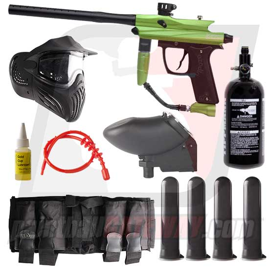 Azodin KAOS 2 Paintball Gun Advanced Package - Green