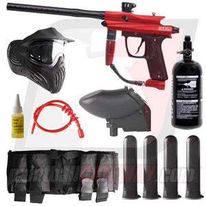 Azodin KAOS 2 Paintball Gun Advanced Package - Red