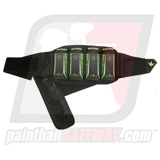 Bunker Kings V5 Strapless Paintball Harness - 4+7 Lime - (#R35)