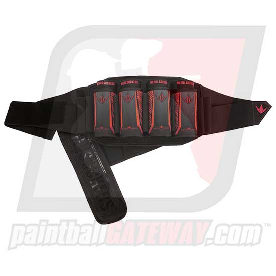 Bunker Kings V5 Strapless Paintball Harness - 4+7 Red - (#Q22)