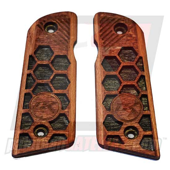 Contract Killer 45 Frame Wood Grip Panels - Hex Type 2 - (#3M21)