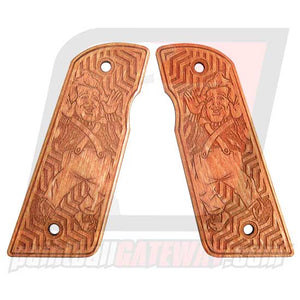 Contract Killer 45 Frame Wood Grip Panels - Oompa Loompa (#3O10)