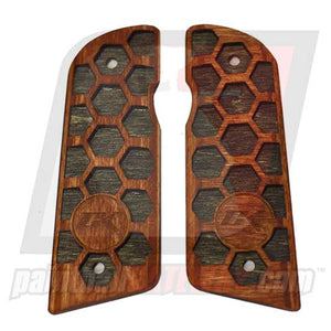 Contract Killer 45 Frame Wood Grip Panels - Hex Type 2.1 - (#3M26)