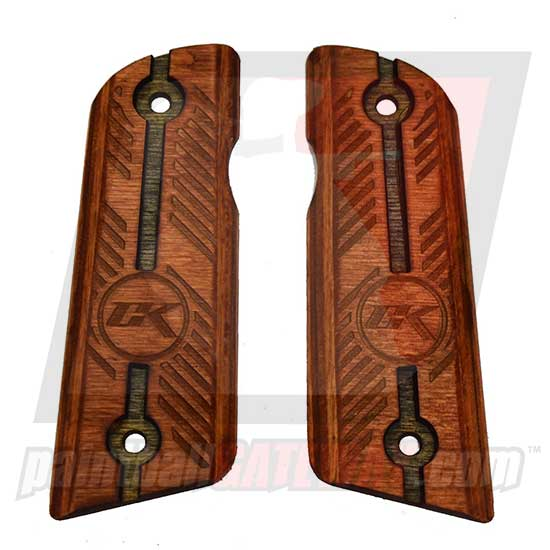 Contract Killer 45 Frame Wood Grip Panels - Blade - (#3N28)