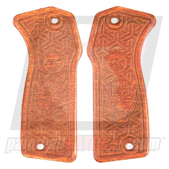 Contract Killer Niche Element Frame Wood Grip Panels - ONI Demon - (#3H13)