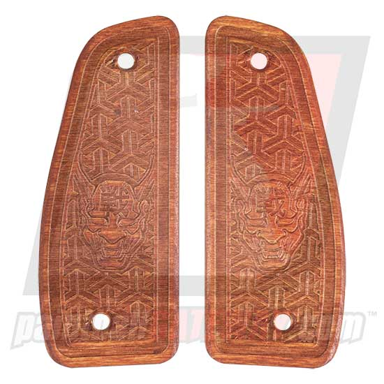 Contract Killer Niche Vector 86 Frame Wood Grip Panels - ONI Demon - (#3G19)