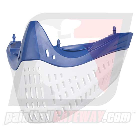 Empire E-Flex/E-Vent Bottom Faceplate - Blue/White (#CL15)