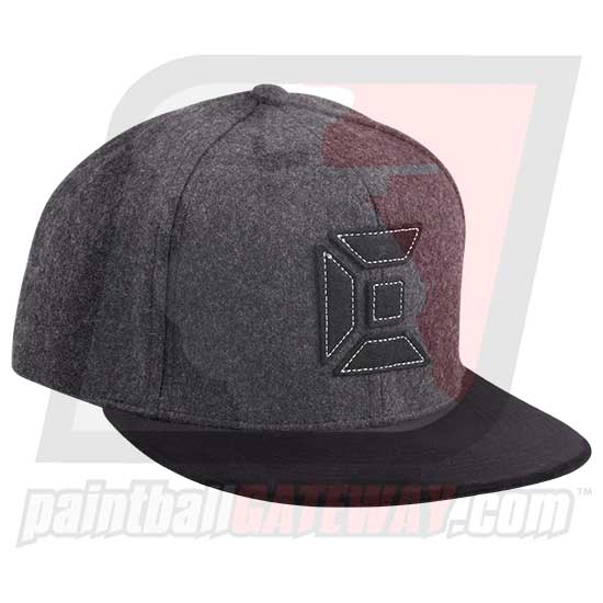 Exalt Flex Fit Hat (Flat Brim) - North Charcoal/Black Small/Medium - (#T6)