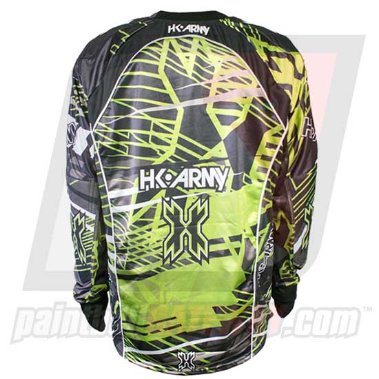 HK Army Hardline Jersey Blank - Electric - Black/Green
