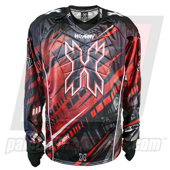 HK Army Hardline Jersey Blank - Fury - Black/Red