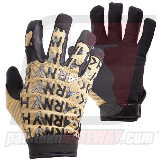 HK Army HSTL Line Base Full Finger Gloves - Tan