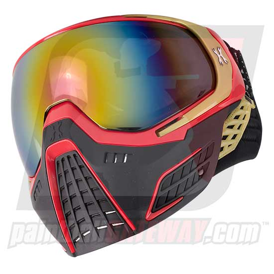 HK Army KLR Thermal Goggle/Mask Version 2 - Element Red/Gold with Fusion Lens