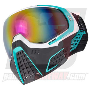 HK Army KLR Thermal Goggle/Mask Version 2 - Mist White/Teal with Fusion Lens