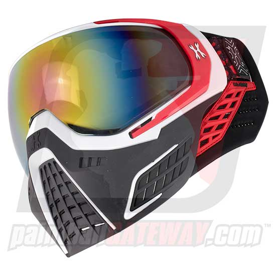 HK Army KLR Thermal Goggle/Mask Version 2 - Scorch White/Red with Fusion Lens