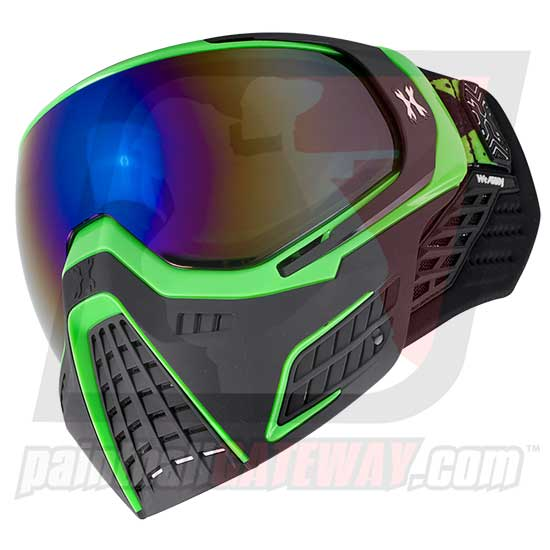 HK Army KLR Thermal Goggle/Mask Version 2 - Slime Green/Black with Cobalt Lens