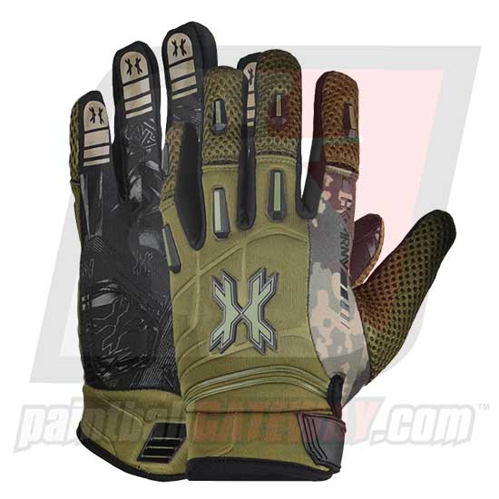 HK Army Pro Full Finger Gloves - Olive Camo