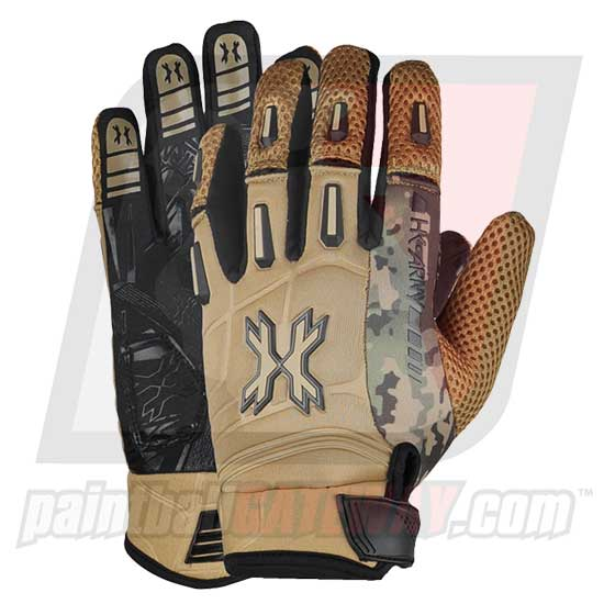 HK Army Pro Full Finger Gloves - Tan Camo