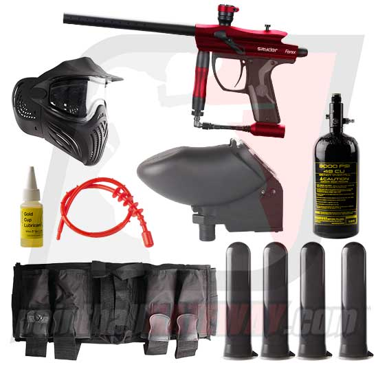Kingman Spyder Fenix Paintball Gun Advanced Package - Silver Grey