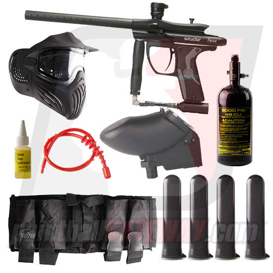 Kingman Spyder Fenix Paintball Gun Advanced Package - Matte Black