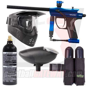 Kingman Spyder Fenix Paintball Gun Starter Package - Gloss Blue
