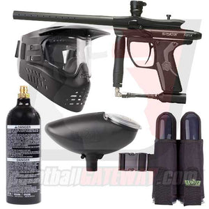 Kingman Spyder Fenix Paintball Gun Starter Package - Matte Black