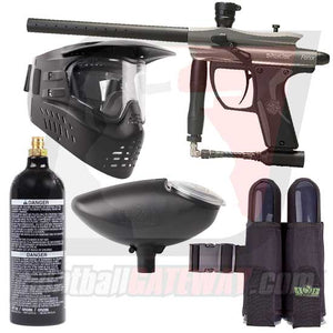 Kingman Spyder Fenix Paintball Gun Starter Package - Silver Grey