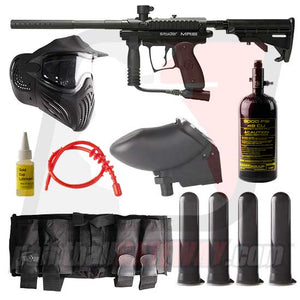Kingman Spyder MR100 Pro Paintball Gun Advanced Package - Black Matte
