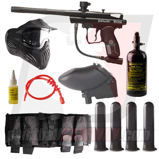 Kingman Spyder Victor Paintball Gun Advanced Package - Black Matte