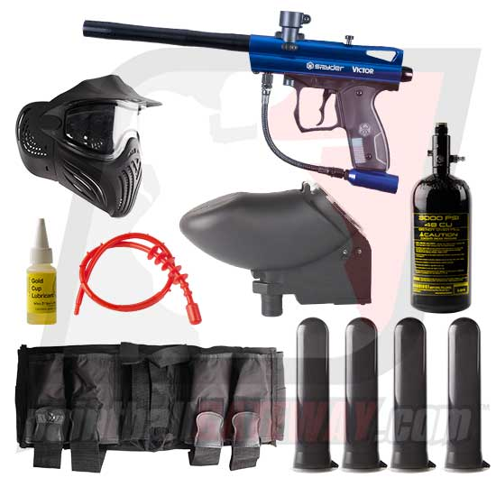 Kingman Spyder Victor Paintball Gun Advanced Package - Gloss Blue