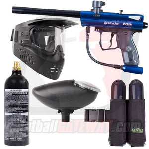 Kingman Spyder Victor Paintball Gun Starter Package - Gloss Blue