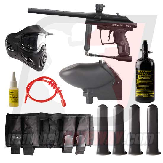 Kingman Spyder XTRA Paintball Gun Advanced Package - Black Matte