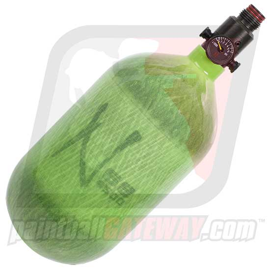 Ninja 68ci/4500psi Carbon Fiber Compressed Air Tank - Translucent Lime