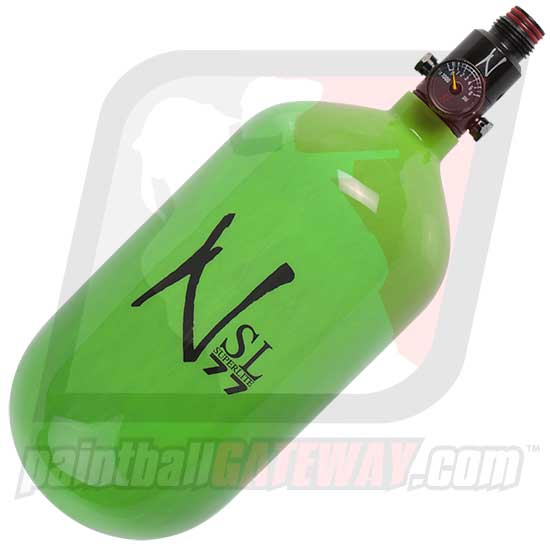 Ninja SL Super Lite 77ci/4500psi Carbon Fiber Compressed Air Tank - Lime/Black Logo