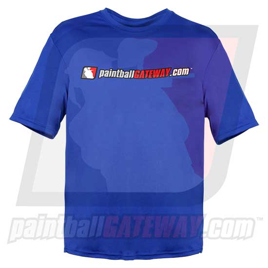 Paintball Gateway Dry Fit T-Shirt - Blue