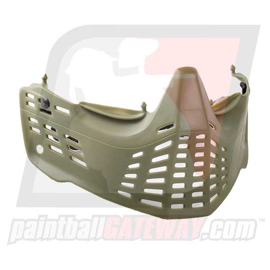 JT Spectra ProShield Bottom Face Mask - Olive - (#S33)