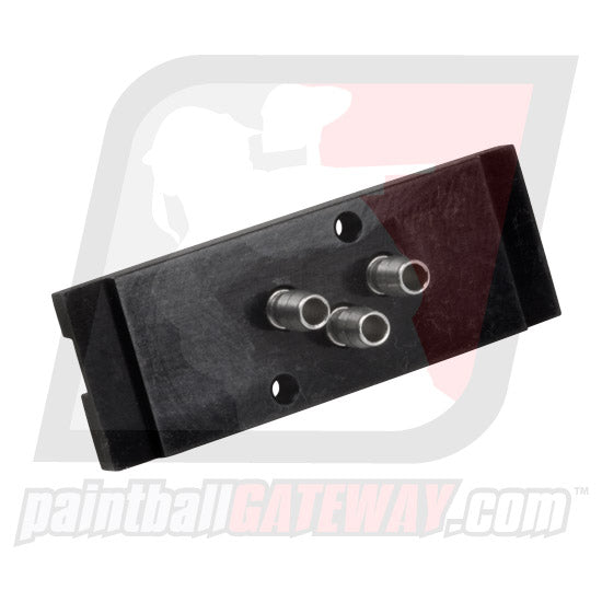Planet Eclipse Autococker E2 EBlade Solenoid Manifold Housing Plate with Barbs - Black - (#3i32)
