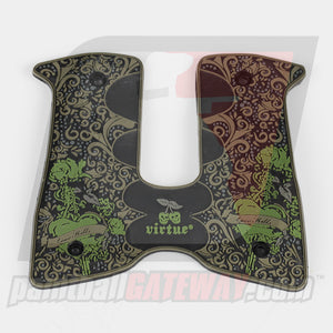 Virtue Dangerous Power G3/G4 Wrap Around Rubber Grip - Love Kills - Olive - (#CL20-05)