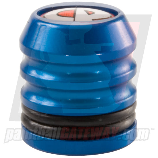 CP Custom Products Compressed Air Tank Fill Nipple Aluminum Dust Cover Cap - Blue - (#3S26)
