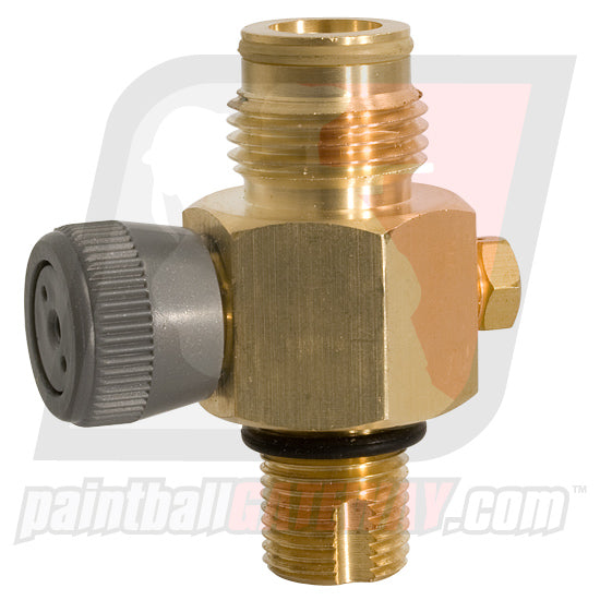 Trinity Co2 Tank Valve with On/Off - Brass - (#3M38)