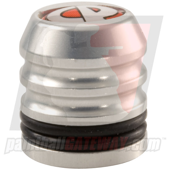 CP Custom Products Compressed Air Tank Fill Nipple Aluminum Dust Cover Cap - Silver - (#3S26)